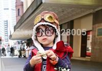 Winter baby earflap,Pilot cap, children hats boys, flight caps, Free Shipping