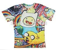 2015 New high quality Women's Men's Short Sleeve T shirt Fashion Cute Cartoon and dog 3D t shirt S M L XL XXL