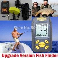Portable Fishfinder fishing equipment LCD Dot Matrix Sonar Electronic Fish Finder echo sounder Detector Alarm For River Lake Sea