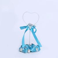 GAGA ! 22cm blue  bud  iron place card holders for baby shower  shower   30 pcs/lot , XA101-3