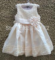 Free shipping vest dress girls dress children's summer models three-dimensional flower princess dress party Birthday H-Dec25