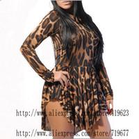 Leopard Dress Bandage Casual Summer Dress 2014 Vestido De Festa Curto Vestido De Festa Roupas Femininas Sexy Club Bodycon