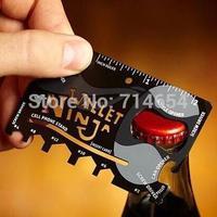 500PCS DHL Free 2014 New Wallet Ninja Credit card Tool Multifunctional Tool edc Mini Pocket Travel Camping Card Survival Tools