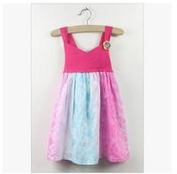 Wholesale cati brand new girls flower vest dress children princess gradient dress party clothes 5pcs/lot