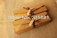 Rectangle Kraft Brown Lace Pattern Cardboard Box 30pcs/lot