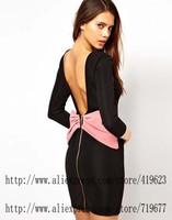 Casual Dresses For Women Fashion Women Clothes 2014 Vestidos Pencil Dress Evening Party Dresses Black Vestidos Curtos Bandage