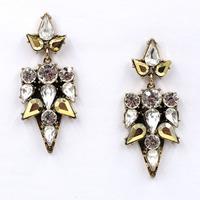 New 2015 women statement unique earrings fashion crystal stud Earrings for women jewelry factory price wholesale jewelry