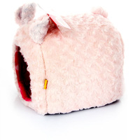 New Warm Cute Piggy Style Pet Bed House Dog Bed Pink#200545