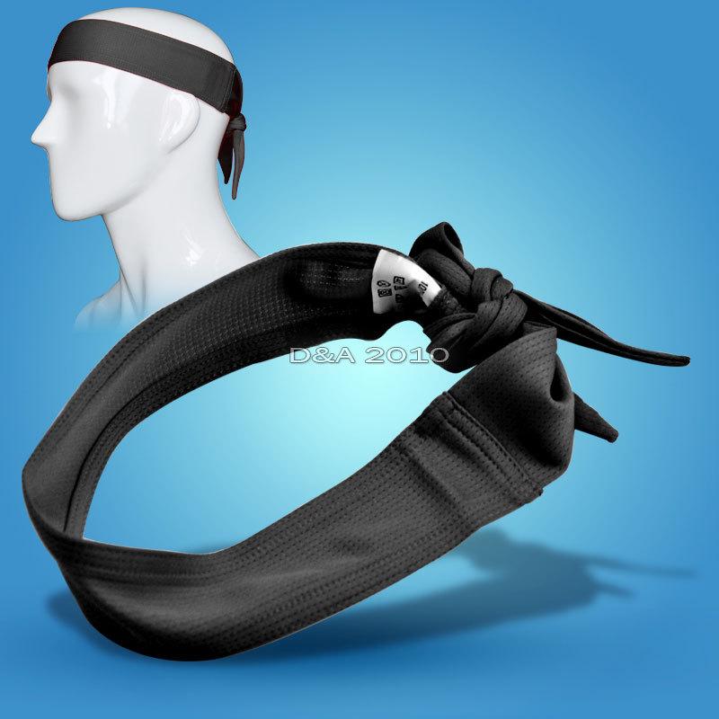 Спорт спортивный баскетбол волейбол футбол Sweatband гибкая повязка на голову черный
