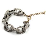2015 NEW fashion chunky chain crystal bracelets & bangles statement bracelet for women Jewelry wholesale price