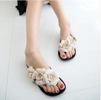2015 summer new fashion Women camellia flip-flops female models flower jelly sandals Women slippers sandals