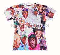 2015 New high quality Women's Men's Short Sleeve T shirt Fashion hot Rapper Print 3D t shirt S M L XL XXL