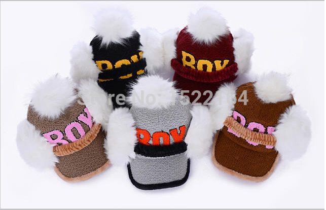 2014 new lady warm woolen BOY Super Meng ear hair ball baseball cap(China (Mainland))