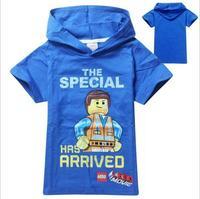 New 2015 lego summer Tee T-shirt boys short sleeve cartoon shirts baby boy hoodies shirt cotton tops kids clothes WD2116