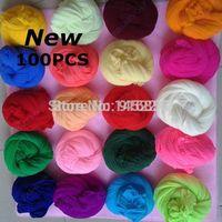 Tensile stocking is 2.5m(100pcs/Lot) Multicolor flower Nylon stocking material accessory handmade DIY nylon flower stocking