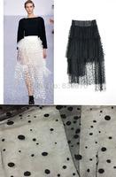 FACTORY! multifunctional black flocked mesh fabric dot spot fabric DIY dress, cloth, party decoration, waistcoat,skirt headband
