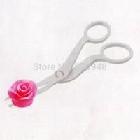 Free Shipping 1 pc Angled Delicate Flower Lifter Icing Sugarcraft Fondant Cake Decorating Tool Move Scissor Clip Cream Transfer