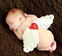 Angle Wings Crochet Knit Photo Prop Baby Costume Photo Photography Infant Baby Costume Animal newborn fotografia