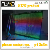 Free shipping Christmas full color indoor led video curtain