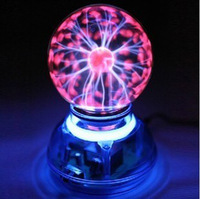 Magic Plasma Ball Lamp Dream Crystal Neon Sphere Negative Ion Generator Car Interior Light Music Voice Sound Control Lightning