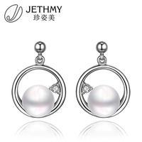 Artificial Pearl Earrings Platinum Plated Fashion Earrings Stud Earrings