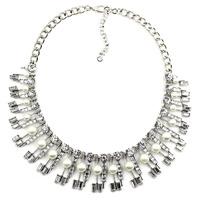 2015 New fashion Z bib collar necklace & pendant chunky luxury crystal pendant choker pearl Necklace statement  jewelry