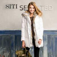 2014 Winter Thicken Warm Woman Down jacket Coat Parkas Outerweat Slim Long Cold Luxury Rabbit Fur collar Hooded Plus Size 3XXXL