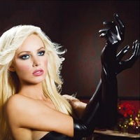 Free shipping sexy patent leather pu gloves latex sex appeal queen long glue bright skin tight temptations club A501
