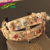 New Good Quality 2015 Pearl Flower Women Fashion Hair Bands Headdress Hair Vintage Accessories 9832