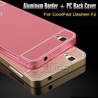 5 Color,High Quality Luxury Aluminum metal Border with PC Back Cover Case For CoolPad F2 8675 / Dashen F2 Mobile Phone shell