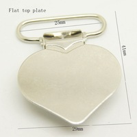 Free shipping newest 200pcs/lot,flat heart shaped clip in nickel color wholesale Suspender Clip Suspender Clips Manufacturer