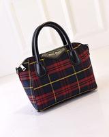 2015 Fashion Vintage bossdun bags plaid women's handbag shoulder bag canvas messenger bag L1484
