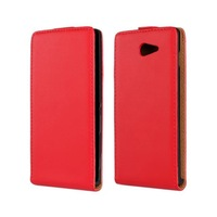 New 11 Colors Luxury Verticl Flip Leather Case Back Cover For Xperia M2 S50H Mobile Phone Bags Cases Accessories