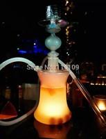 2014 New Design Glass Hookah Shisha With Led Light , Led Glass Hookah Magical Smooking Shisha Hookah