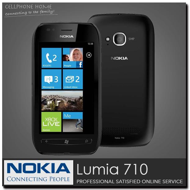 "Factory Original NOKIA Lumia 710 Unlocked Window Phone 7.5 WCDMA 3.7"" IPS 5MP 8GB ROM 3G WIFI GPS WIn7.5 OS Mobile phones(China (Mainland))"