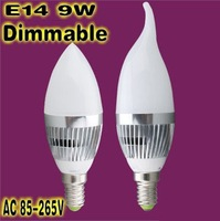 Free shipping  Dimmable Ultra bright 9W 12W 15W  E14 LED candle bulb,LED lamp,warm white/white,Guarantee 2 years
