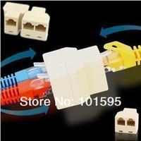 2PCS High Quality RJ45 Network Lan Splitter Extender Connector Plug for Net Accessories