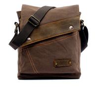 2014 Vintage Canvas Leather Messenger Bag Casual Shoulder Bag Crossbody Satchel Free Shipping