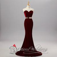 2015 Prom dress In Stock 100% Real Photo Free Shipping A Line Taffeta Elegant Sweetheart Sash  Hot 11