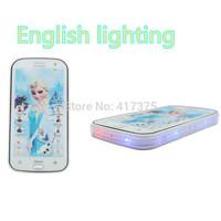 5D Educational mobile phone toy English language Elsa princess toy intelligent electronic pets learning machine for child kids