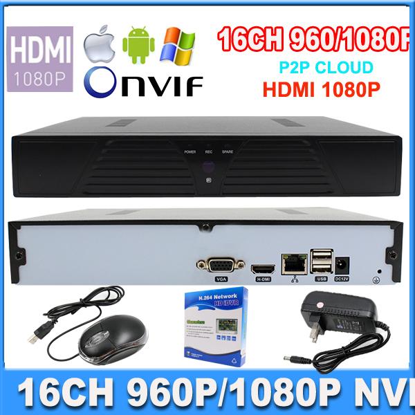 16ch nvr P2P Cloud CCTV NVR 16ch 960P 720P or 8Ch 1080P ONVIF HDMI Output H