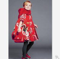 Girl coat wlmonsoon brand new high quality dress children shawl cloak kids cotton clothes