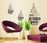 Drop Wall stickers Home Decor Decals Removable Adesivo De Parede Cartoon Sticker Glass Bathroom Bedroom Parlor Home decoration