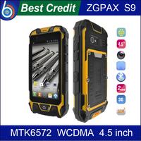 """In stock!Original ZGPAX S9 IP67 Waterproof Mobile Phone MTK6572 Dual Sim WCDMA 4.5""""inch Screen GPS snopow M8 Android/Kate"""