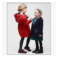 Girl woolen coat wlmonsoon brand new high quality dress kids clothes children embroidered jacket