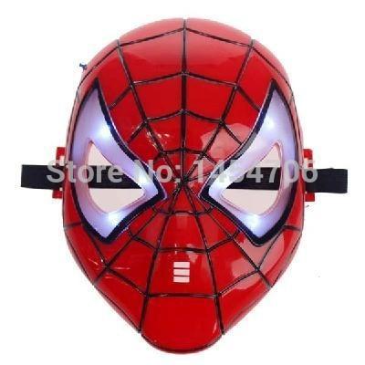 LED Shiny Spiderman/Spider Man Mask Eyes/Halloween/Christmas/Masquerade Mask/Cosplay/Make up Toy(China (Mainland))