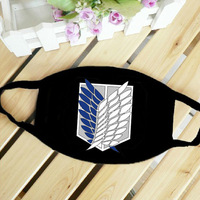 attack on Titan Mouth-muffle Face Mask,White and black Cotton Mouth Masks warm,boys&girls Anti Dust/Windproof Masks for winter