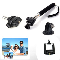 For Tripod Accessories Aluminium Handheld Monopod  Tripods Mount Adapter holder For Gopro Hero HD 1 2 3 3+ Camera Accessories