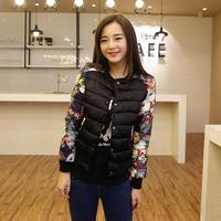 Little princess royal exquisite brief elegant fancy short design quality wadded jacket cotton-padded jacket