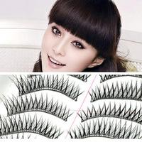 10 pairs/set handmade crisscross false eyelashes naturally charming electric eye transparent stem thick false eyelashes hot sale